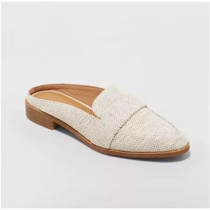 Universal Thread Cream Backless Loafer Mules
